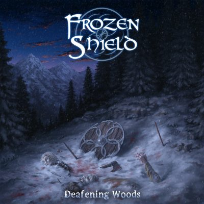 Cover art for metal band Frozen Shield.
